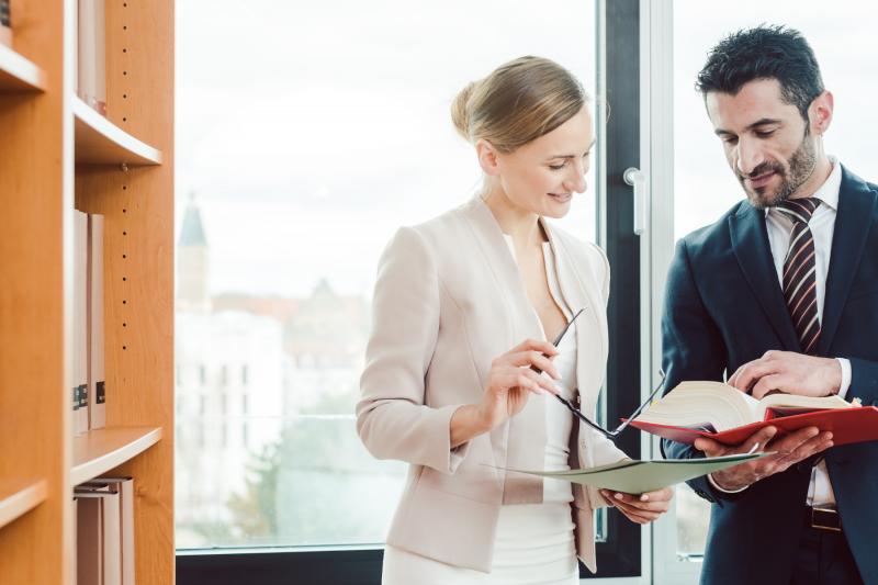 nodokļu konsultants iepazīstina savu klientu ar pēdējām nodokļu izmaiņām